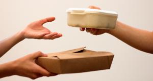 Lebensmittel teilen und weitergeben