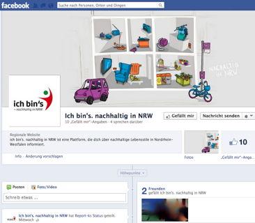 Die Facebook Seite von Ich bin's! - nachhaltig in NRW